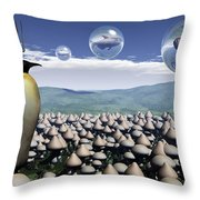 Harvest Day Sightings Throw Pillow by Richard Rizzo