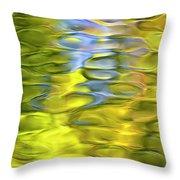 Harvest Gold Mosaic Throw Pillow