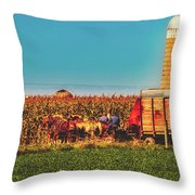 Harvest In Amish Country - Elkhart County, Indiana Throw Pillow