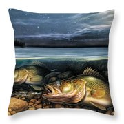 Harvest Moon Walleye 1 Throw Pillow by JQ Licensing