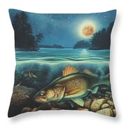 Harvest Moon Walleye 3 Extended Version Throw Pillow