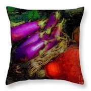 Harvest Veggies Throw Pillow