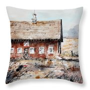 Harvested Fields Throw Pillow