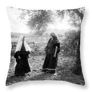 Harvesting Near Bethlehem Throw Pillow