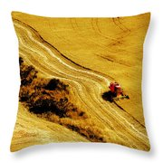 Harvesting The Crop Throw Pillow