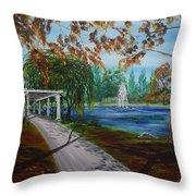 Harveston Lake Path Throw Pillow