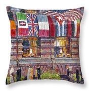 Hassam: Allied Flags, 1917 Throw Pillow