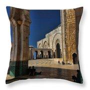 Hassan II Mosque  Throw Pillow