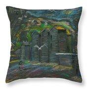 Hastings Fishermen's Museum Throw Pillow