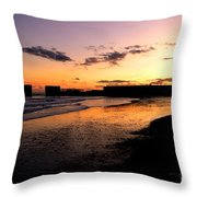 Hastings Harbour Arm At Sunset Throw Pillow
