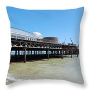 Hastings Pier, East Sussex Throw Pillow