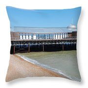 Hastings Pier Pavilion Throw Pillow