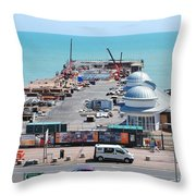 Hastings Pier Rebuild Throw Pillow