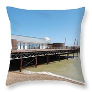 Hastings Pier Renovation Throw Pillow