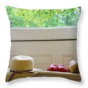 Hat And Clogs Throw Pillow