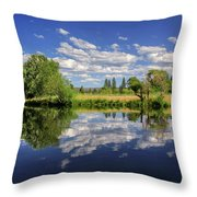 Hat Creek Reflections Throw Pillow