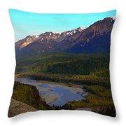 Hatcher's Pass Alaska Throw Pillow