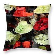 Hats In A Window Throw Pillow