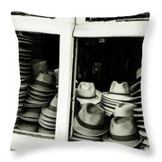 Hats Of Bruges Throw Pillow