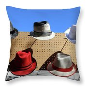 Hats Selection Day Dead  Throw Pillow