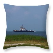 Hatteras Ferry To Ocracoke 2 Throw Pillow