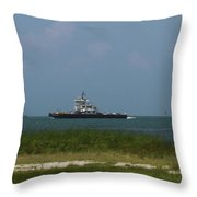 Hatteras Ferry To Ocracoke Throw Pillow