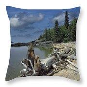 Hattie's Bay In Pukaskwa National Park Ontario Throw Pillow