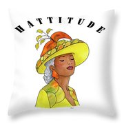 Hattitude #120 Throw Pillow
