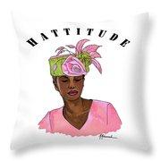 Hattitude #15 Throw Pillow