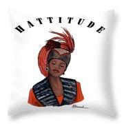 Hattitude #40 Throw Pillow