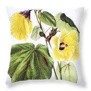 Hau Flower Art Throw Pillow