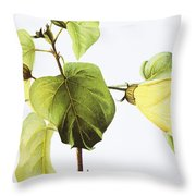 Hau Plant Art Throw Pillow