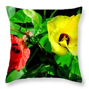 Hau Tree Blossoms Throw Pillow