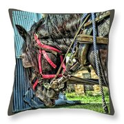 Haulin' Throw Pillow