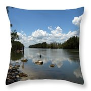 Haulover Canal On The Space Coast Of Florida Throw Pillow