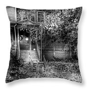 Haunted - Abandoned Throw Pillow