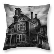 Haunted - Flemington Nj - Spooky Town Throw Pillow