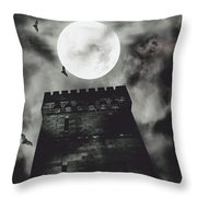 Haunted Dark Castle Throw Pillow