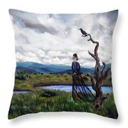 Haunted Desolation Throw Pillow