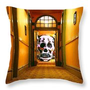 Haunted Hallway Throw Pillow