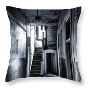 Haunted Hallway Throw Pillow