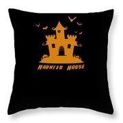 Haunted House Halloween Costume Throw Pillow