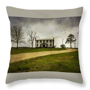 Haunted House On A Hill Throw Pillow
