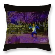Haunted Night Throw Pillow