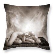 Haunted Throw Pillow by Jacky Gerritsen