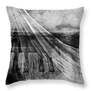 Haunted Piano Throw Pillow