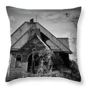 Haunted School House Throw Pillow