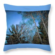 Haunted Trees Throw Pillow