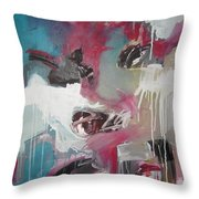 Haunted Voice-blue Red Painting Throw Pillow