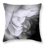 Haunting Beauty Monochrome Rose Throw Pillow
